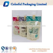 Sacs de recharge liquides de poche de bec de jus de la vitamine 500g emballage de sauce de bbq