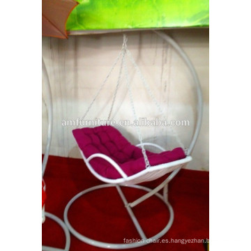 Silla colgante Swing blanco, silla columpio, silla giratoria de ratán