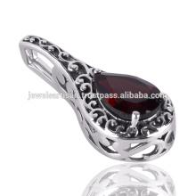 Granat Edelstein 925 Solid Silber Anhänger