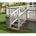 clôture de rampe d'escalier extérieur tubulaire en aluminium pour balcon