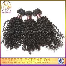 Novo Produto De China Mongolian Kinky Em Linha Reta Cabelo Cutícula Weave