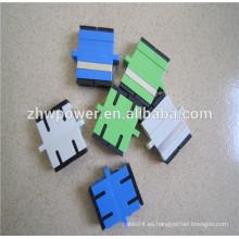 Singlemode y multimodo simplex y duplex sc pc / apc adaptador de fibra óptica