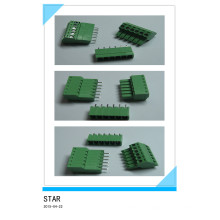 3.5mm 6 Pin/Way Green Pluggable Type Screw Terminal Block Connector