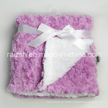 Thick Sherpa with Rose Velvet Baby Blankets Blankets Wholesale