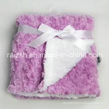 Sherpa grosso com cobertores de cobertores de bebê de veludo rosa atacado