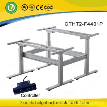 Mesa regulável em altura regulável de 2 lugares numa mesa de esteira Mesa de motor dupla regulável