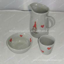 3pcs ceramic breakfast set for BS12056G