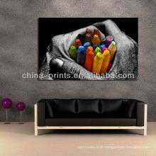 De alta qualidade chinês impressão giclée lona pintura parede decoração lona arte