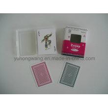 Jogando o cartão de jogo do cartão, jogo de mesa com caixa de PP