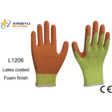 10g T/C Shell Latex Foam Coated Safety Work Glove (L1206)
