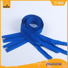Nylon cremallera de extremo abierto de plástico inferior Stop 5 # Zippers ZN20009