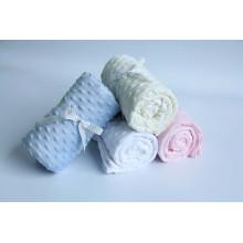 100% Polyester Super Soft Nouveau modèle Bubble Velvet Blanket / Flanel Fleece Blanket
