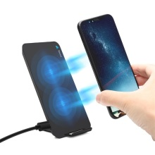 Qi Wireless Charger Pad Stand With Double Coils