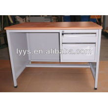 office desk wish MDF surface ,two drawers office desk ,steel computer desk