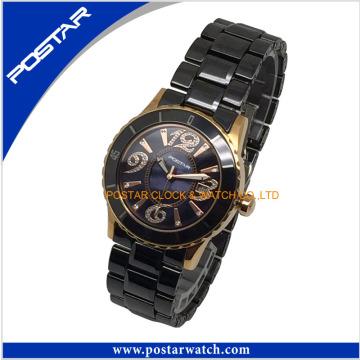 Alle Schwarz Unisex Keramik Quarzuhr Armbanduhr