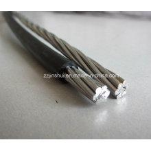 0.6 / 1 Kv LV Antenne gebündeltes Kabel 1 Kernphase 16mm2 AAC 16mm2 Bare AAAC Messenger