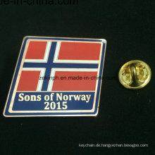 Großhandelsqualitäts-kundenspezifisches Pin-Abzeichen, Metallabzeichen für Flagge