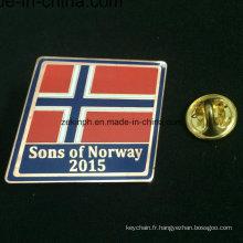 Insigne fait sur commande de Pin de haute qualité en gros, insigne en métal pour le drapeau