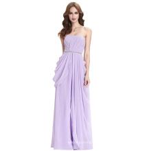 Kate Kasin Niñas de longitud completa sin tirantes de gasa lila vestido de fiesta largo vestido de fiesta KK000077-1