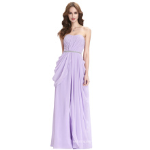 Kate Kasin Young Girls Full-Length Strapless Chiffon Lilac Prom Dress Long Party Dress KK000077-1