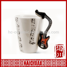 horn shape music mug