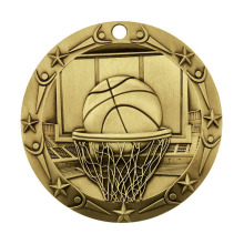 Basketbal thema medaille van 3 inch