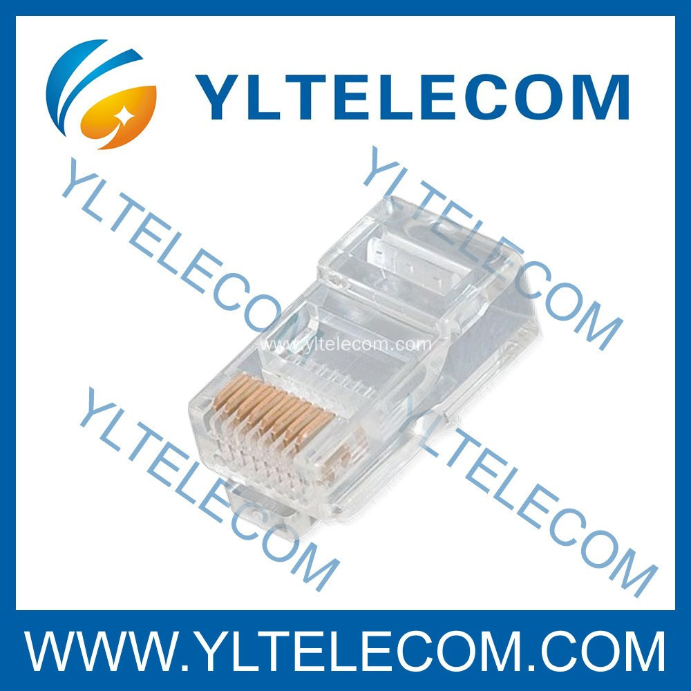 RJ45 Modular Plug 8P8C For Flat Cable