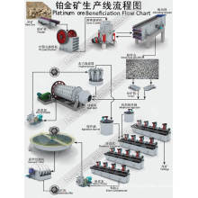 Ligne de traitement de la bénéfaction minérale pour l'or platine avec le concasseur