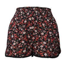 Pantalones cortos de mujer de cintura alta y pierna ancha