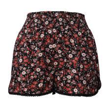 Senhoras Shorts cintura alta perna larga