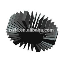 Eficiência da venda quente redonda levou alumínio extrudido dissipador de calor LED / LED
