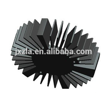 Горячий диод эффективности сбывания круглый алюминиевый прессованный радиатор СИД / радиатор СИД