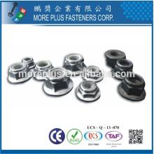 Fabricado en Taiwán DIN 6926 Hex Brida Nylon Inserción Self Locking Nut