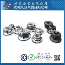 Made in Taiwan DIN 6926 Hex Flange Nylon Insert Self Locking Nut