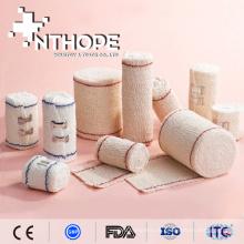 Suprimentos médicos descartáveis bandagem elástica de crepe