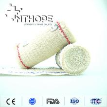 Atadura elástica do crepe do spandex do algodão da cor de Brown com ISO de FDA do CE