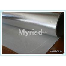 Paño de la fibra de vidrio de la hoja de aluminio detrás, laminación de la fibra de vidrio de la hoja de aluminio, material de cubierta reflectante y de plata
