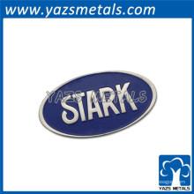 logotipo oval forma emblema adesivo