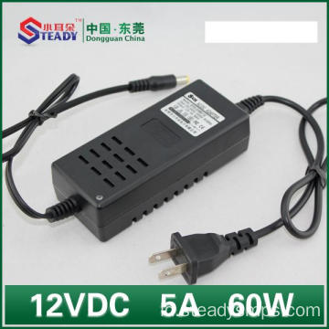 Jenis Desktop Power Adapter 12VDC 5A