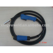 welding torch with euro connector