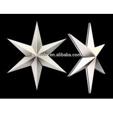 Promoción 11 cm de plástico de Navidad decoración colgante estrella