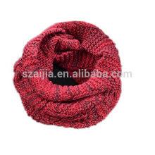 Señoras invierno hilado color teñido punto bufanda infinito