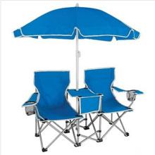 Chaise de camping Amant Double Sièges avec Parapluie (SP-117)