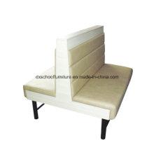 Chaise de restaurant à deux places Beige Duble Sofa, Coffee Shop