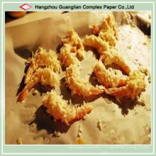 Papier sulfurisé brun fait sur commande de cuisson pour la nourriture de friture