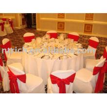100 % polyester couvre chaise, hôtel/Banquet chaise couvrir, Sash Satin de chaise