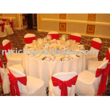100%polyester Chair Cover, Hotel/Banquet Chair Cover, Satin Chair Sash