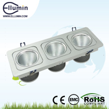 3 * 10W tres cabeza LED Square Downlight
