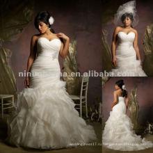 Нью-Йорк-2414 Раффлед органзы свадебное платье