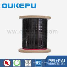 QualityDegree haute 180HC UL standard plat fil de cuivre émaillé pour transformateur sec